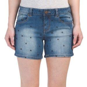 1822 Star Print Denim Shorts 14